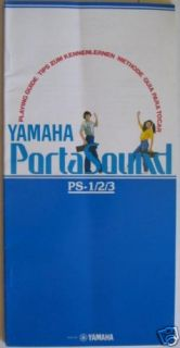 Vintage Yamaha Original PS 1  2  3 Players Guide Owners Users