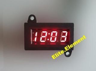 ... Micro Digital Clock Red LED For Car Motorcycle Motorbike Scooter Bike ...