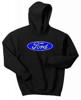 FORD HOODIE SWEAT SHIRT BLACK BLUE NASCAR OFF ROAD DESERT TRUCK F150