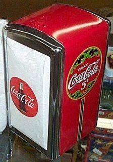 COCA COLA 50s DINER STYLE NAPKIN HOLDER w/ 100 COKE NAPKINS 1 pkg