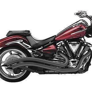 cobra motorcycle speedster swept exhaust kawasaki vn900 custom black