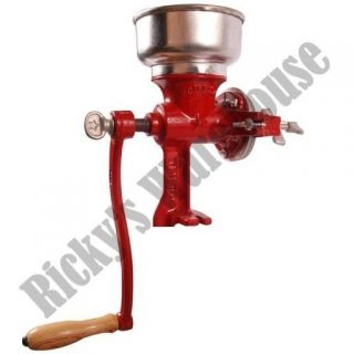 Cast Iron Hand Crank Manual Mill Corn Grain Wheat Coffee Oat Grinder
