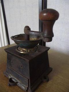 Antique Cast Iron & Brass Coffee Grinder Kitchenalia 2/10 13