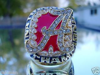 2009 ALABAMA CRIMSON TIDE NATIONAL CHAMPIONSHIP RING ROLL TIDE