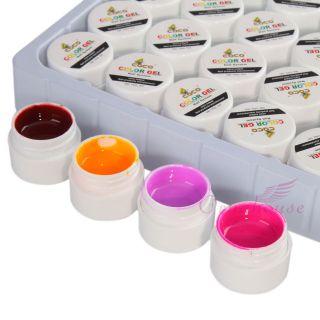 36Color Nail UV Gel Builder Powder Set Pure Color UV Nail Art Tips