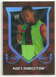WWE Topps 2011 Classic Kofi Kingston Shirt Swatch Relic Card RARE