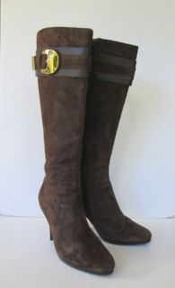 Cole Haan Womens Brown Suede Leather Nike Air Tall Knee High Heel