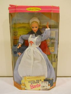 STORIES COLLECTION BARBIE DOLL CIVIL WAR NURSE COLLECTOR EDITION