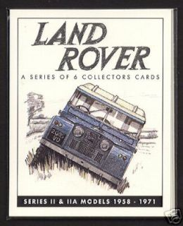 LAND ROVER SERIES 2 Original Collectors Cards 1958 71