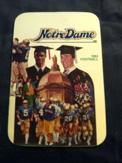 1983 Notre Dame Fighting Irish Football Schedule