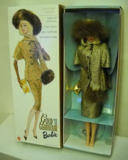 Collectors Request Barbie Reproduction Gold N Glamour Barbie Doll