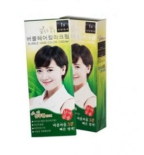 with Flower) Bubble Foam Hair Color Dye Cover Gray Hair Made In Korea