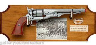 Civil War Confederate Collectors Set Replica pistol US Cap Badge Brass