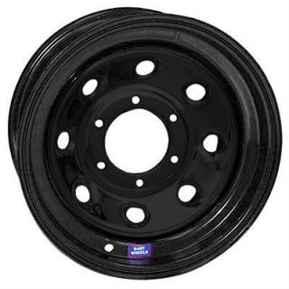 Bart Wheels Super Trucker Black Steel Wheel 15x12 5x5.5 BC