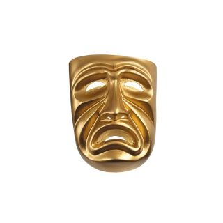 Gold Theater Plastic Comedy Adult Tragedy Mask Costume Accessory