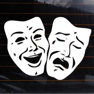 THEATRE MASK Vinyl Decal 8x6 comedy tragedy car wall sticker theater