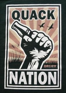 XL QUACK NATION Duck Hunting T Shirt, Unlimited Commander Ducks