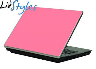 PINK Vinyl Laptop Skin Decal fits Dell HP Sony Compaq Acer Asus 12