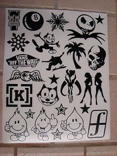 Werks Sticker Bomb Sheet, JDM, Honda, VW, Evo, Subaru, toyota, drift