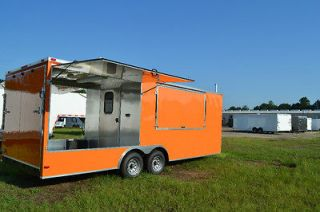 5X22 Concession BBQ Smoker Trailer with Porch