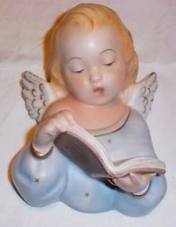 Vintage Singing Angel Cherub Wall Plaque Figurine   Italy Numbered