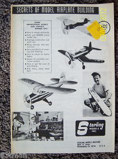 Sterling RC Radio Control Line Balsa Wood Model Airplane Kit in Box