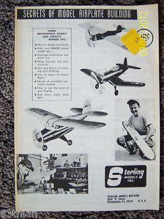 Serling RC Radio Conrol Line Balsa Wood Model Airplane Ki in Box