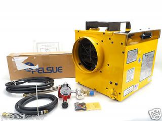 Pelsue Portable In line Propane Construction Heater 1690D with Extras