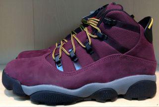 Air Jordan Winterized 6 Rings Deep Burgundy Lion Cool Grey Boot