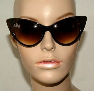 New Tortoiseshell Big Cat Eye Sunglasses Retro Rockabilly 50s Pin Up