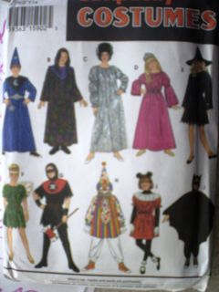 UNCUT Simplicity Pattern Halloween Costume Mix/Match