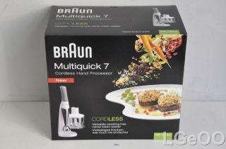 New Braun Multiquick 7 Cordless Hand Processor   MR730cc (White)