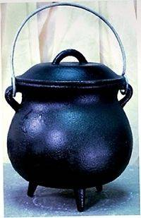 Iron Cauldron Large Cast Iron Cauldron Kettle  Celtic