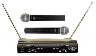 PDWM2500 Professional Dual VHF Wireless Microphone Mic System 2 Mics