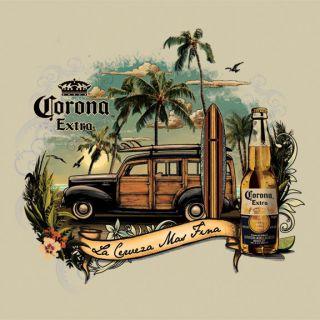 Mens Corona Retro Vintage Surf T Shirt S M L XL 2XL Beer Cerveza