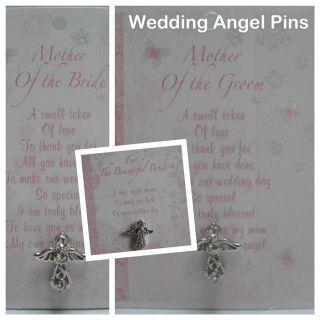 Wedding Crystal Guardian Angel Pin/Badge   Variety You Choose