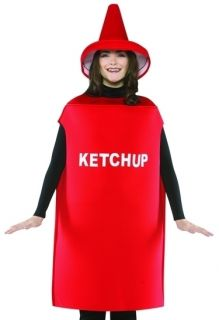 Funny Adult Ketchup Bottle Couples Halloween Costume