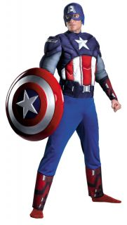 CLASSIC MUSCLE ADULT MENS COSTUME Marvel Avenger Party Halloween