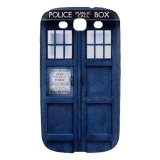 Police Call Box Dr. Who TARDIS Samsung Galaxy S3 III Hard Case Cover