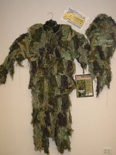 tac Sniper GHILLIE CAMOFLAGE SUIT WOODLAND camo ADULT FAT BOY XL/XXL
