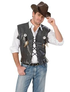 Mens Country Cowboy Sheriff Western Halloween Costume Vest L