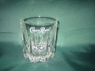 Seagrams Crown Royal Crystal Whiskey Sippin Cut Glass   Made in Italy