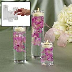 Glass Cylinder Tealight Candle Holder Wedding Ceremony Table