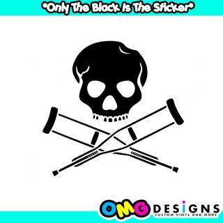 Jackass Skull and Crutches Nitro Circus Sticker Decal JDM Drift Rally