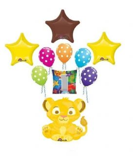 LION KING simba first 1st birthday balloons decorations party supplies