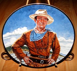 John Wayne THE DUKE The Franklin Mint WESTERN COWBOY SHOW Plate