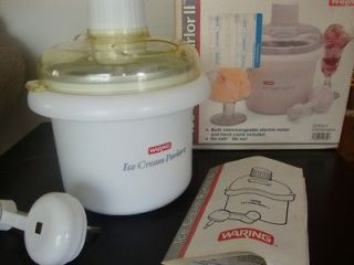 Waring Ice Cream Parlor II Dual Electric or Hand Crank Ice Cream Maker