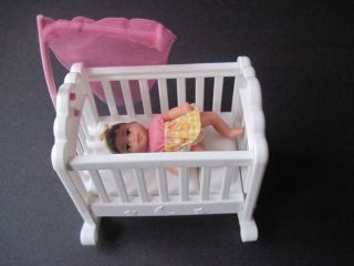mattel Barbie baby Krissy doll & crib