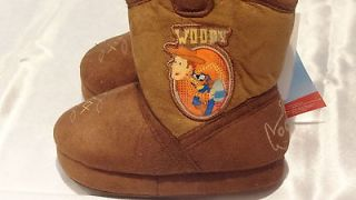 NWT Disney Toy Story Boys Woody Cowboy Slippers   Sizes 5 12