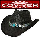 12 Kids Straw Cowboy Hats Western Party Supplies